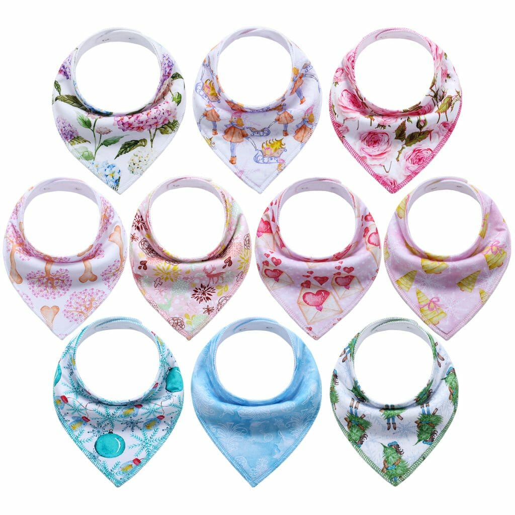 10 Pack Bandana Bibs Upsimples Baby Drool Bibs For