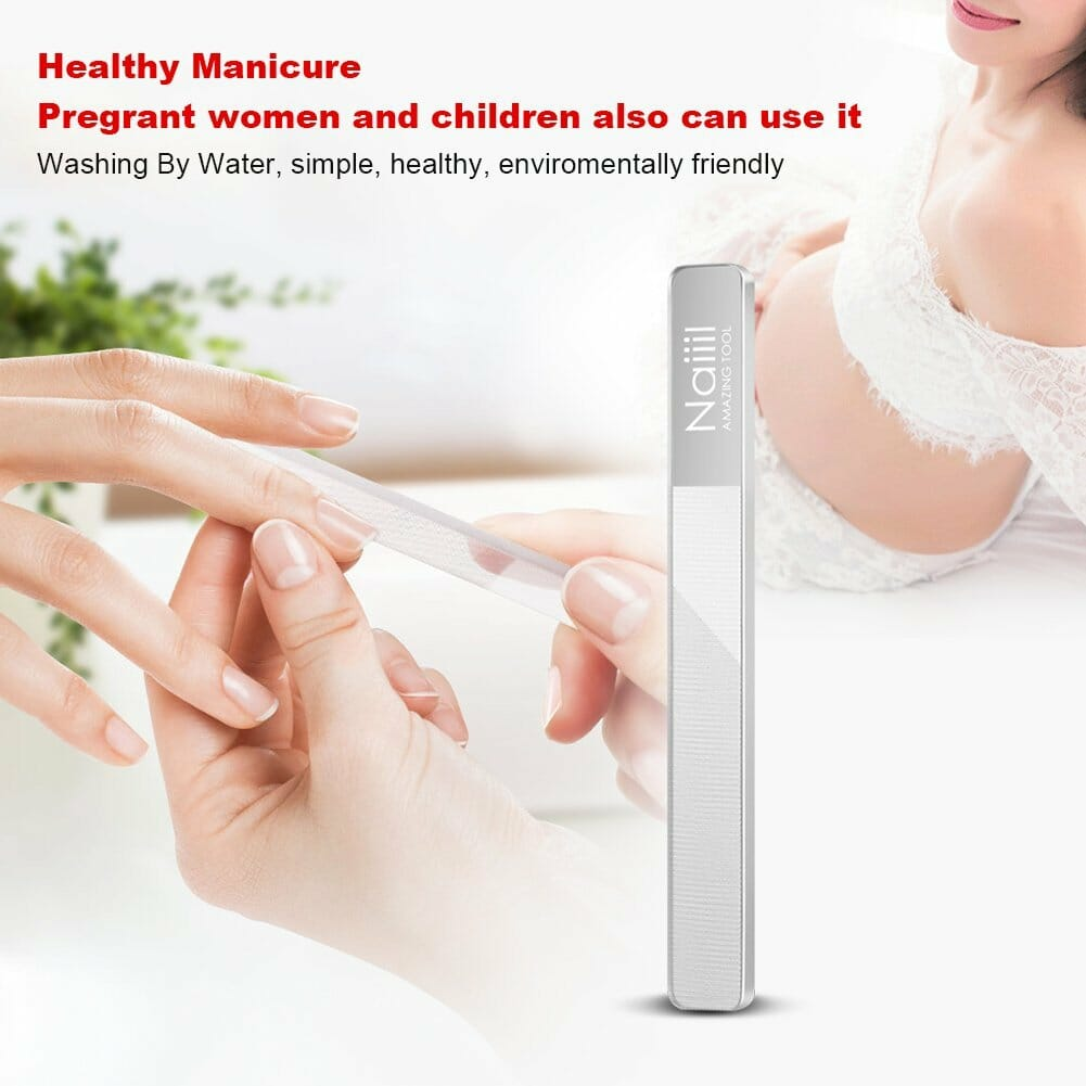 Nano Nail File Shiner Buffer Nail Care Manicure Tool for Natural Nail &  Smooth Polished Non-Chemical Hazard Tempered Glass, Nail Shiner with Case  by