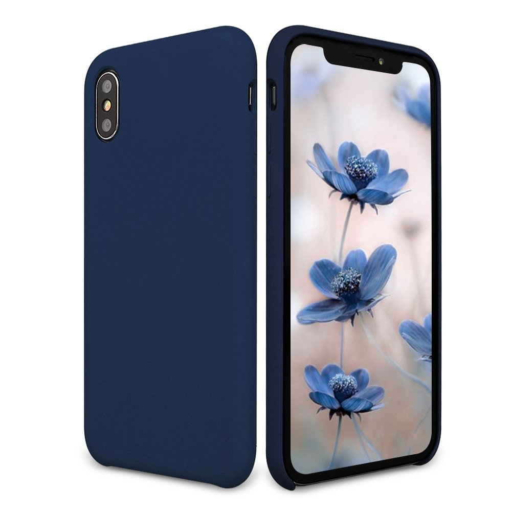 buy online 6e8e1 4cdf4 iPhone X Case, DIGITWHALE iPhone X Liquid Silicone Gel Rubber Case with  Shockproof Cover Soft Microfiber Cloth Lining Cushion for Apple iPhone X ...