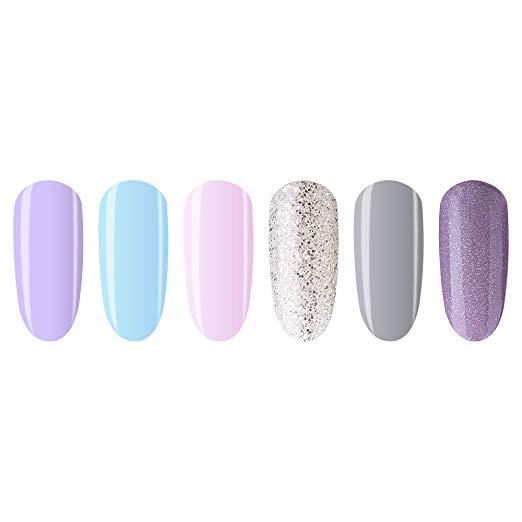 MIYOUNE Soak Off UV LED Gel Nail Polish Light Color Set – Product ...