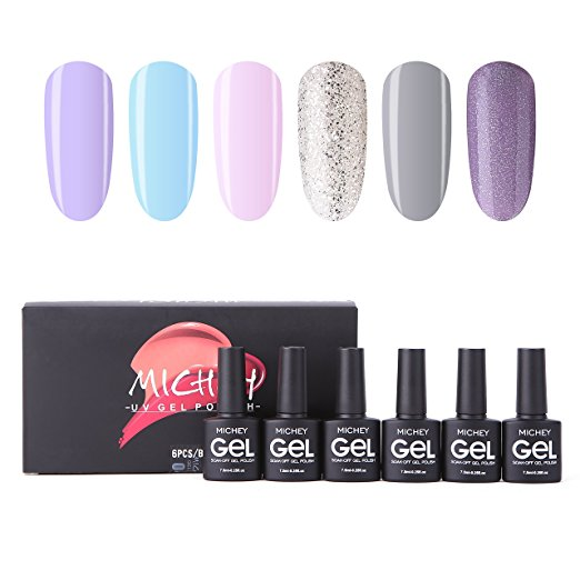 Miyoune Soak Off Uv Led Gel Nail Polish Light Color Set