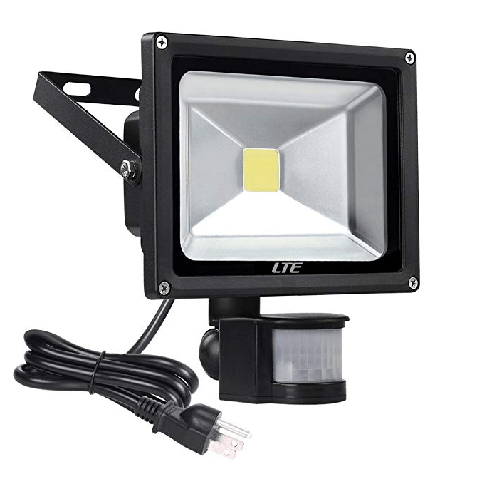 20w Led Motion Sensor Floodlight Outdoor Plug