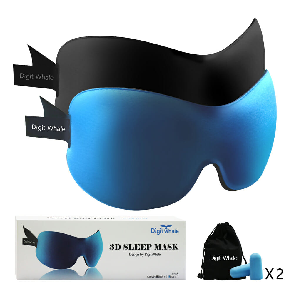 53351cf56 DIGITWHALE 3D Sleep Mask Pack of 2